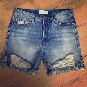 Free People Denim Cut Off Shorts size 25